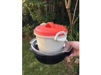 Microwave rice cooker + microwave steamer bundle