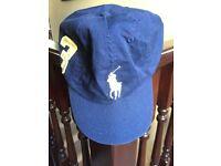 Children's Ralph Lauren Big Pony Blue Cap