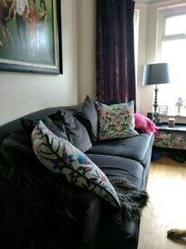 Next Large Sofa Charcoal Velvet