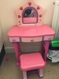 Girls pink dress up table