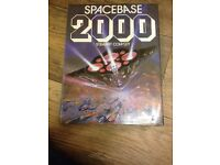 Book, Spacebase 2000, a collectable book of artwork and fiction about future space,published in 1984