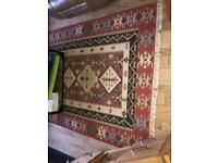 Beautiful large pure wool Rug 160x230cm Kilim by Asiatic carpets . Used two months