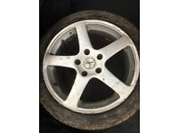 "4 x 17"" alloy wheels 5 stud"