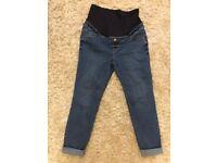 Size 14 maternity blue denim jeans