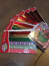 Christmas paper chains and CD