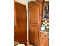 Wooden kitchen integral fridge/ freezer 50/ 50 split and 600 double oven housing plus 2 x 300 units