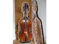 4/4 Bohemia Cello and Liother Seifert bow, with hard case