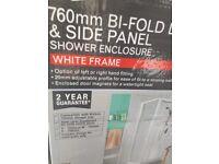 760mm bi fold shower cubicle NEW