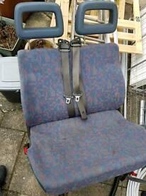 Transit van seat pair