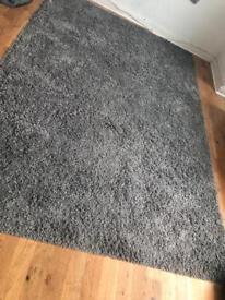 Grey soft rug