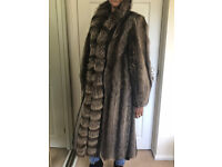 Real Fur Racoon Full Length Coat