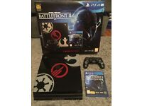 PS4 Pro STAR WARS Battlefront II 2 Limited Edition Bundle, 1TB Mint condition