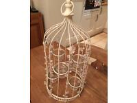 John Lewis Wedding: Ivory bird cage tea light holder