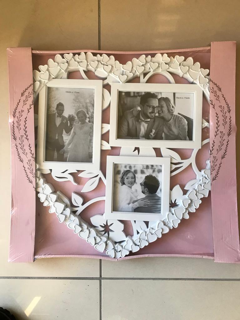 BNWT White Love Heart Photo Frame