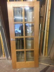 Oak glazed door