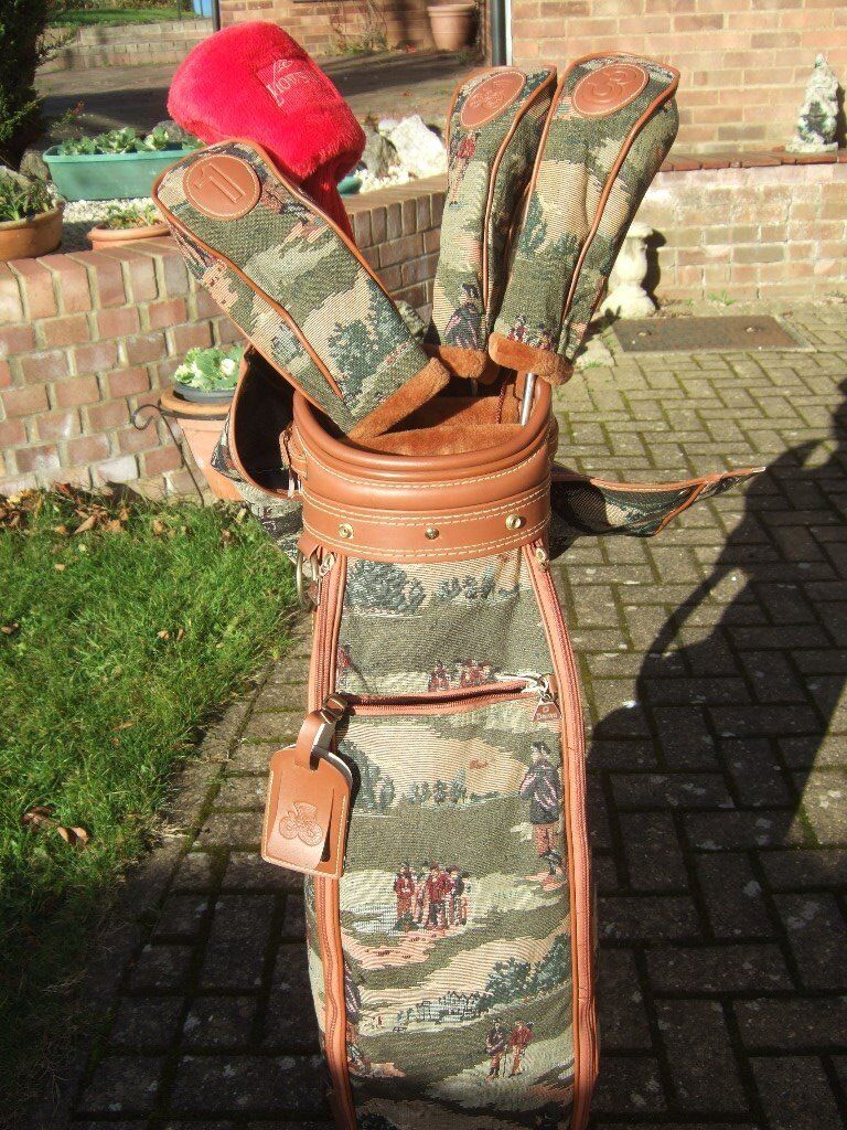 Daiwa Quality Tapestry Golf Bag Exc Condition plus 13 clubs inc. Hippo and extras Make an Offer