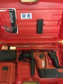 New Shape AVR Hilti Full Kit TE6a 36v Cordless Hammer Drill 2 x Full Charge 3.0 Batteries year 2016