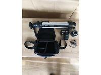 Pentax K100D Super DSLR Camera with telescopic lens & tripod