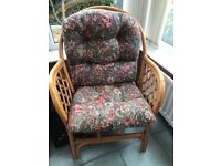 Cane Conservatory Chair complete with Cushions,
