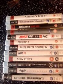 12 ps3 games all good condition great deal for these
