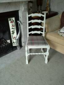 Two lovely shabby chic chairs