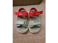 2 pairs - Clarks baby girl size 4F shoes