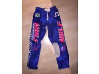 Wulf Sport Vintage Motocross / Motorcross / Motorcycle Trousers / Pants