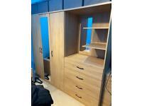3 door & 4 drawer wardrobe / chest of drawer / bedside cabinet