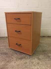 Ikea office drawers (brown wood) - free!
