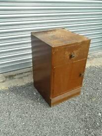 Vintage bedside cabinet (2)
