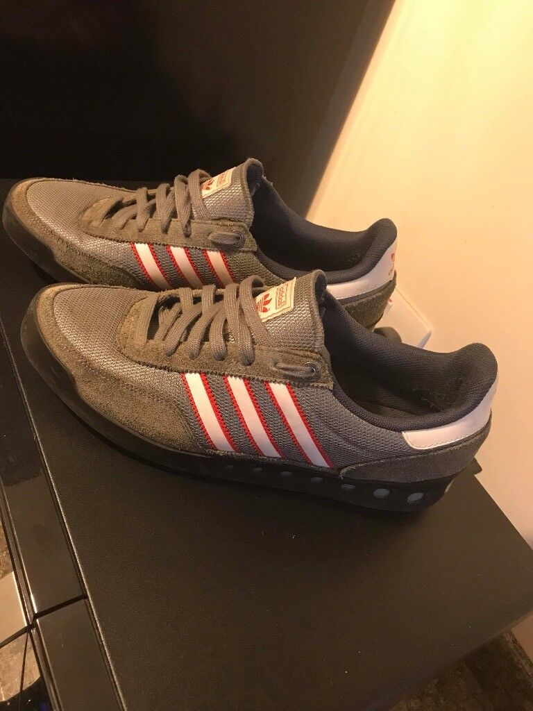 Mens Trainers Adidas training pt70s grey red white