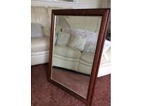 Mirror large solid wood detailed frame
