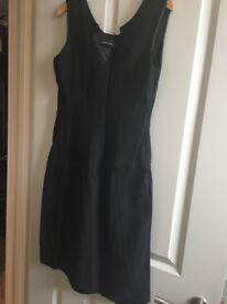 Ladies black lined office dress