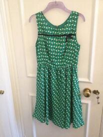 Louche green apple dress - size 10 small - brand new