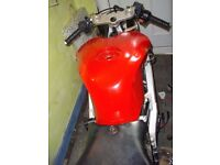 cagiva mito 125 with 660 aprilia engine fitted