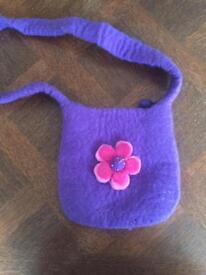 Small woollen handbag