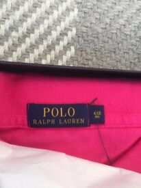 Brand new Ralph Lauren Classic-Fit mesh Polo shirt in Ultra Pink Size 4XB Big £35