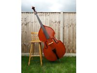 3/4 size double bass handmade fully carved