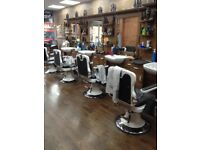 Barbers chairs and sections