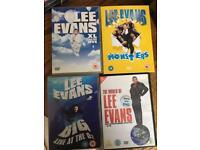 LEE EVANS DVD x4 Certificate 15