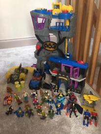 Bat man cave jail cars & figures
