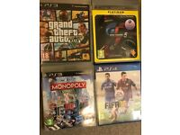 Grand Theft Auto 5, Gran Turismo 5, Monopoly Streets, PS3 games in excellent condition.