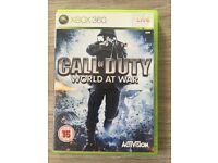 Xbox 360 Call of Duty world at War game - Good Condition