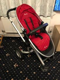 Silver Cross Surf Pram + two pram seats + loads of extras