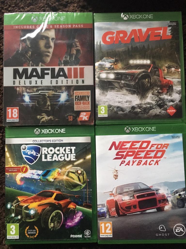 Xbox One Games (Gravel,Mafia 3,Rocket League,NFS PayBack) | in Edgware,  London | Gumtree