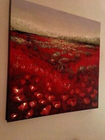 "Amanda McAndrews Original Oil Painting ""Field of View"" Poppies on Large Canvas G20 West End"