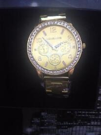 MK Michael Kors watch Christmas gift,gold & rose gold