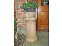 Two Victorian chimney pots