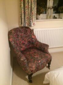 Bedroom chair and 2 bedside tables
