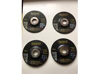 4 pcs grinding discs BLACKBOLT, 125mm for steel, 2 types